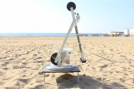 3D sand castle printing
