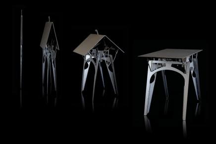 Cricket – the world's thinnest luxury folding table