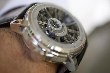 Harry Winston Opus 12 watch with Emmanuel Bouchet
