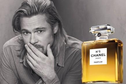Brad Pitt wearing Chanel No.5