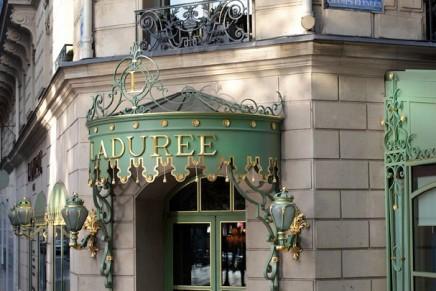 Ladurée luxury tea house on Champs-Elysées reopened for business
