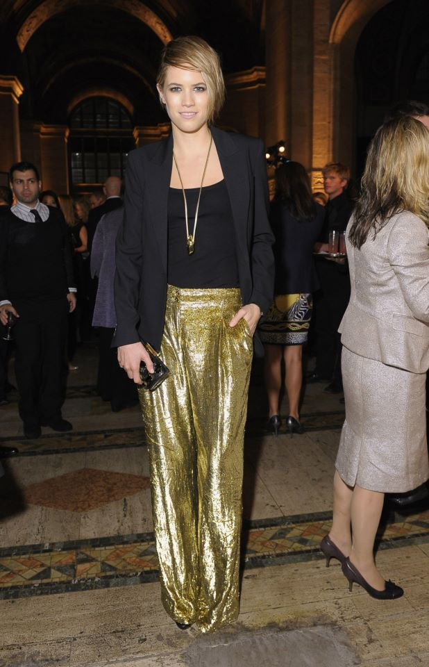 gold wide leg pants - Pi Pants