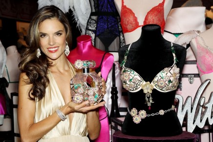 Victoria's Secret angel Alessandra Ambrosio revealed the $2.5 million Floral Fantasy bra