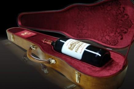 Château Fombrauge 2008 magnum nestled in an original Stradivarius case
