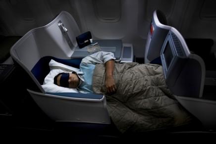 Full flat-bed in Delta's BusinessElite transcon flights