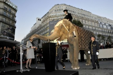 Galeries Lafayette x Louis Vuitton holiday windows