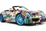 Art cars: Porsche 911 Cabriolet by Romero Britto