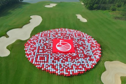 Sustainable tourism: World's biggest QR code unveiled at world's largest golf resort