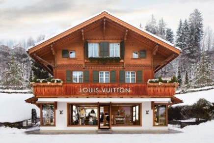 Louis Vuitton winter resort store in Gstaad