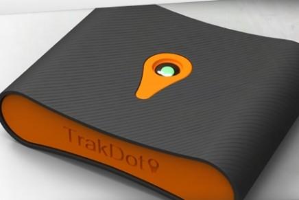 Trakdot baggage-tracking gadget