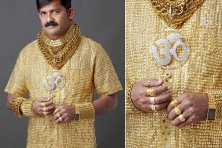 The man with the golden shirt