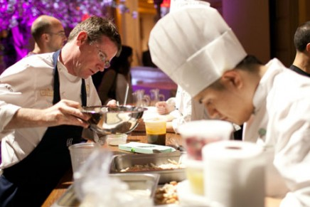 Bold British cuisine at the third edition of Diner des Grands Chefs 2013