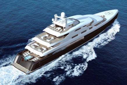 Illusion, China's biggest superyacht, in progress