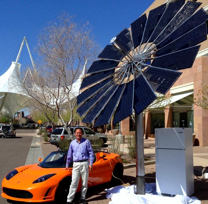 Lotus Mobile World S First Mobile Solar Flower Power