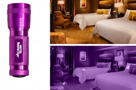 UV LED stain finder to put the hotels rooms to the ultimate test?