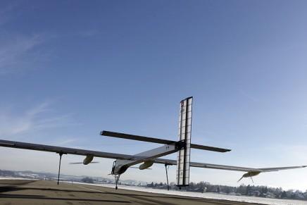"Groundbreaking Solar Impulse plane on the ""Across America 2013"" mission"