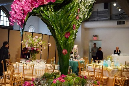 """Orchids cascading from more than 7 feet high – """"Best Show"""" at the 16th New York Flower Show"""