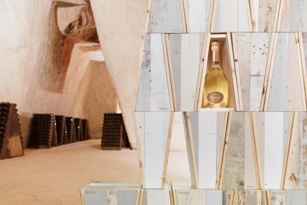 Piet Hein Eek for Ruinart – Blanc de Blanc imperfect ecological boxes