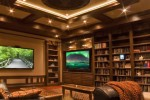 2 in 1: upscale home library and stunning home theater