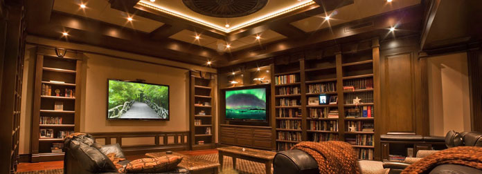 2 In 1 Upscale Home Library And Stunning Home Theater 2luxury2 Com