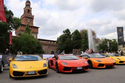 4 km of supercars on the Lamborghini Grande Giro