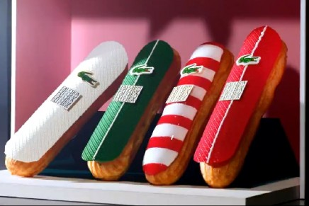 Lacoste's special appearance on éclair pastries