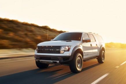 Hennessey VelociRaptor SUV conversion