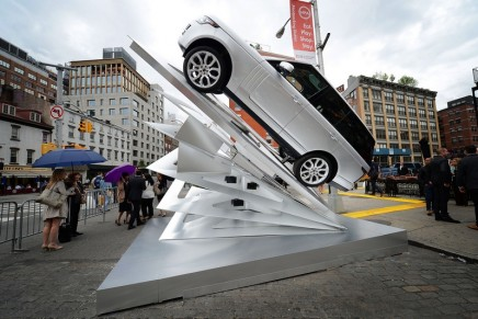 Climbing Up: Land Rover art installation