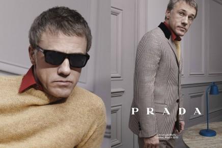 Christoph Waltz, Ben Whishaw and Ezra Miller for Prada fall-winter 2014