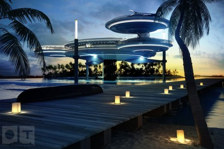 Partially underwater Maldives' Water Discus Hotel received the green light