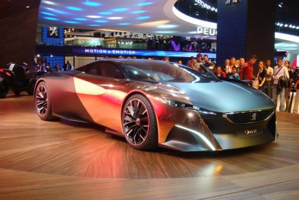 600bhp Peugeot Onyx Concept Car in action at the Goodwood Festival of Speed