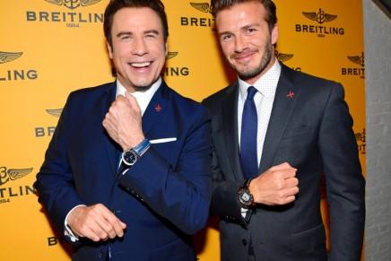 David Beckham and John Travolta open Breitling's first U.K. flagship store