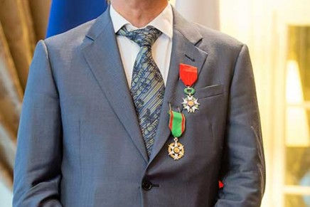 Britain's best known cook received France's highest award