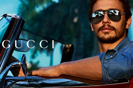 A behind-the-scenes look at James Franco in Gucci Bamboo Eyewear campaign