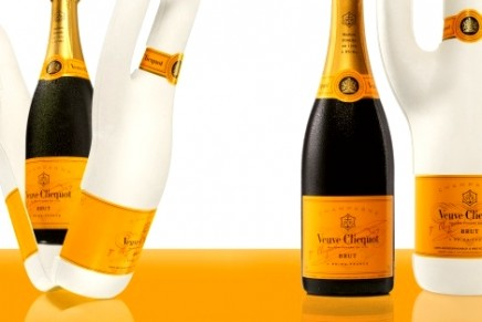 Naturally Clicquot eco-friendly potatoes and paper bottle