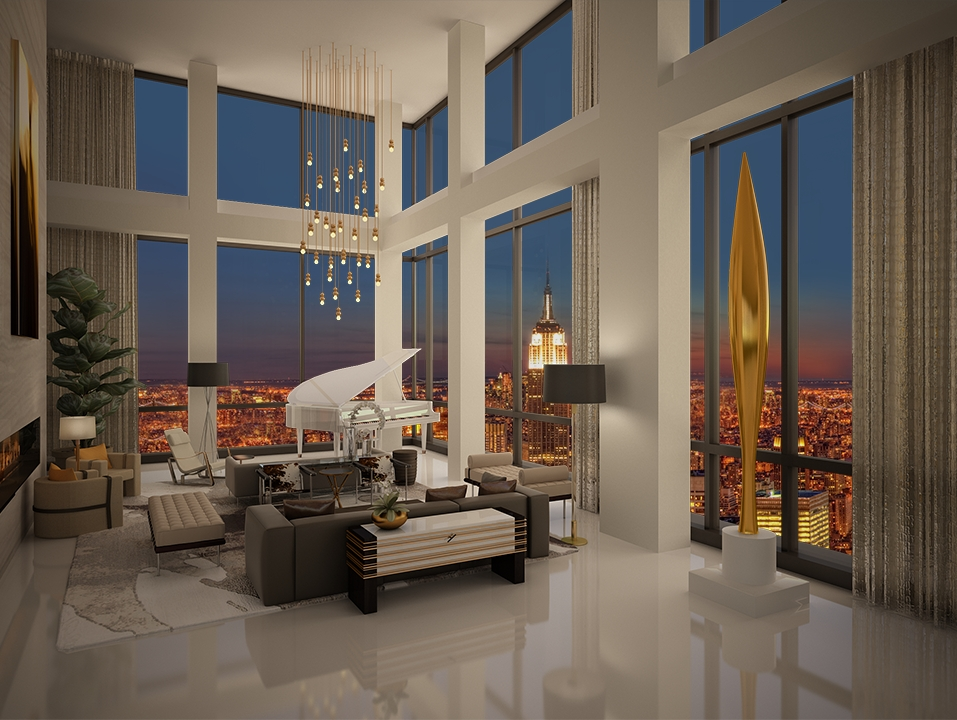 Manhattan s hottest real estate offering 50 million for New york luxury penthouses