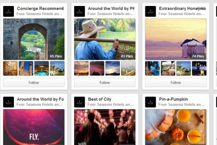 New Pinterest Place Pins feature debuts with a luxury hotel chain.