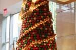 Life-size macaron holiday tree