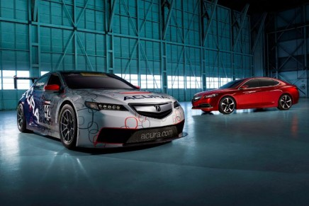 Acura's Red Carpet Athlete and TLX GT race car unveiled at 2014 NAIAS