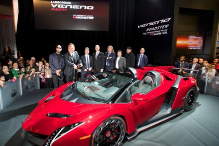 VenenoMonster, the exclusive Lamborghini Roadster equipped with Monster