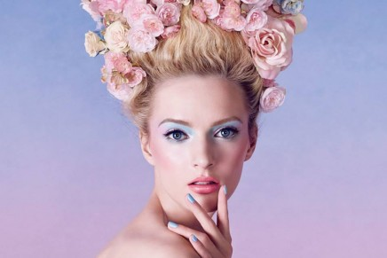 Sherbet hues for our spring look. Sprightly-coloured new season range of make-up.