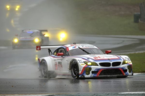 2015 BMW Z4 GTLM in the closing hours of the 2015 Season Finale IMSA Petit Le Mans