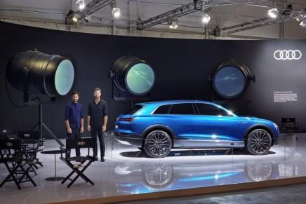 DesignMiami/: Audi E-Tron Quattro Concept installation by Humans since 1982