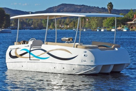 The adventure begins aboard ElectraCraft's all new TR Series Tri-Cat – the next generation of electric boats