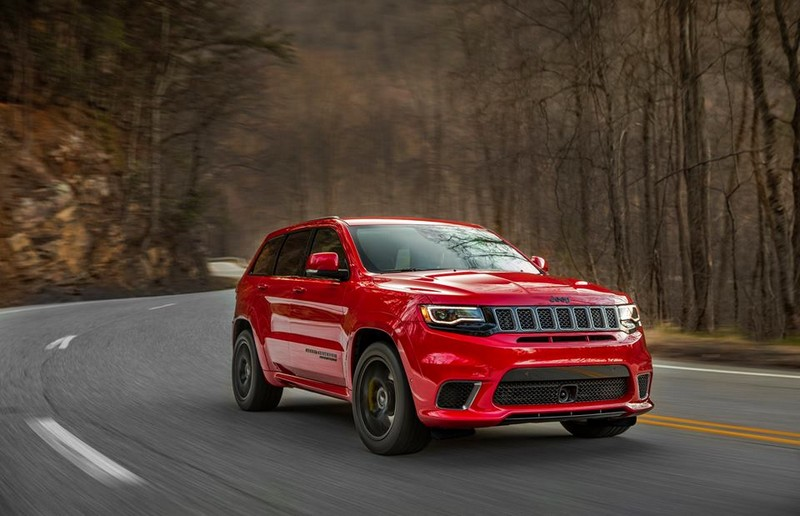 2018 Jeep Grand Cherokee Trackhawk on the road