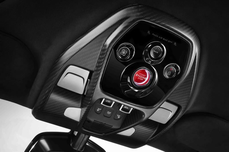 2018-McLaren Senna hypercar roof mounted controls