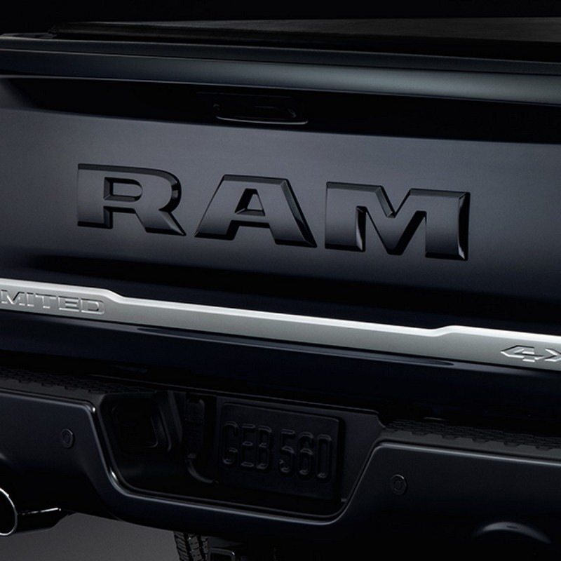 2018 Ram Limited Tungsten Edition luxury truck rear details