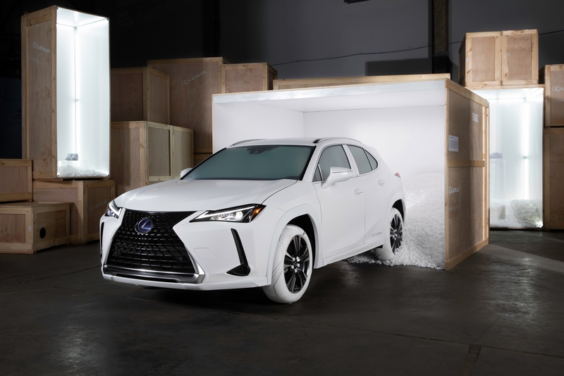 2019_Lexus_UX_Sole_ The custom Lexus UX tires inspired by John Elliott x Nike AF1 shoe