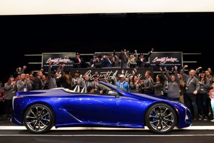 Collector car auction raises $7.625 Million for charity, including the sale of two first-production VIN 001 luxury cars