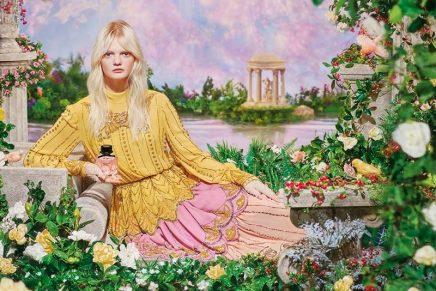 Gucci Flora Gorgeous Gardenia brings Pierre et Gilles' idea of estrangement from reality